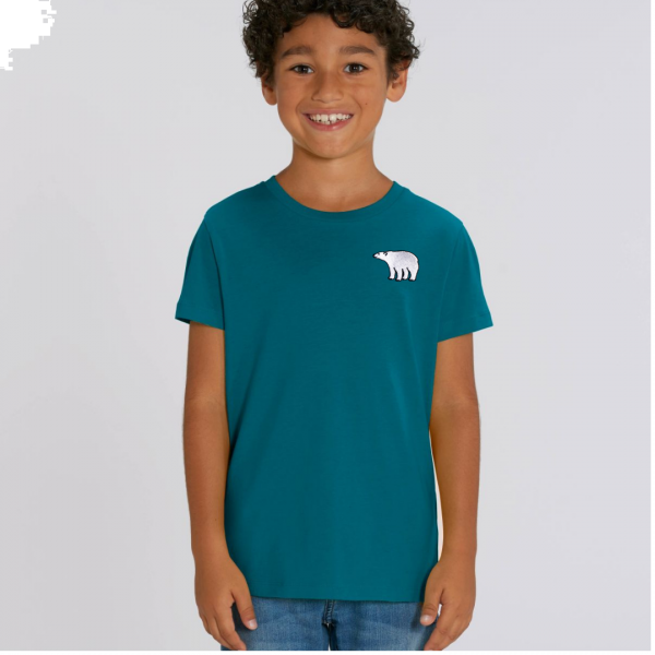 polar bear kids - unisex organic cotton t shirt Ocean Depth