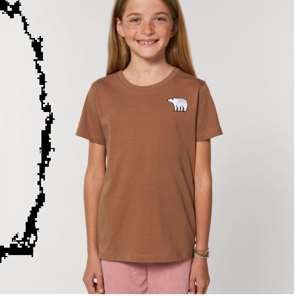 polar bear kids - unisex organic cotton t shirt Caramel