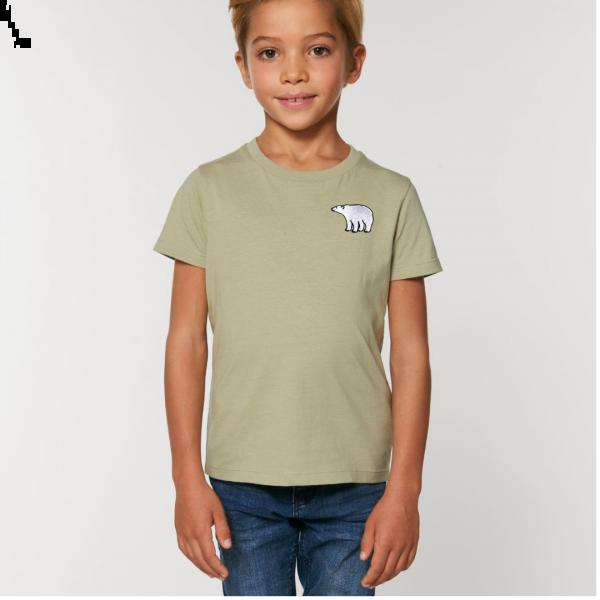 polar bear kids - unisex organic cotton t shirt Sage