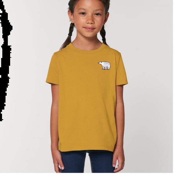 polar bear kids - unisex organic cotton t shirt Ochre