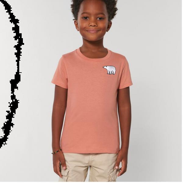 polar bear kids - unisex organic cotton t shirt Rose Clay