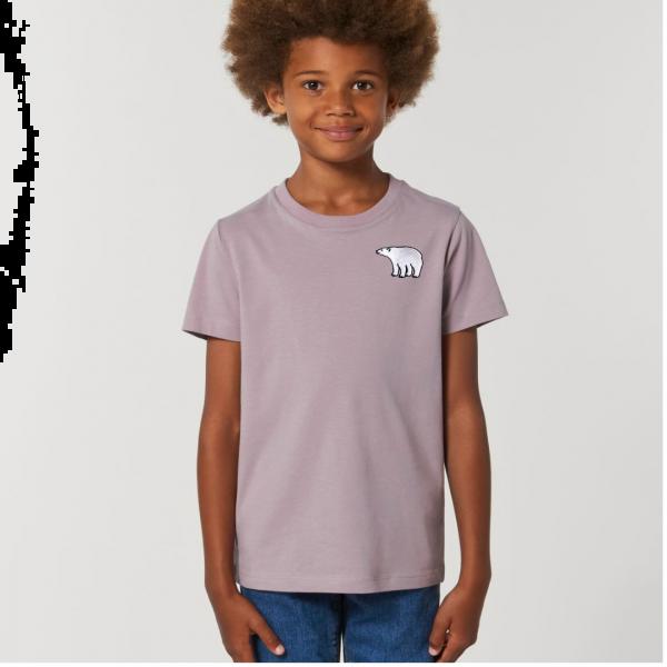 polar bear kids - unisex organic cotton t shirt Lilac Petal