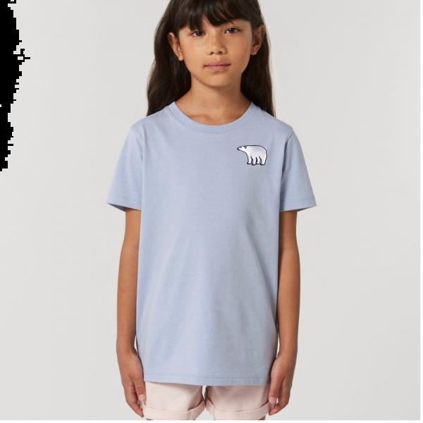polar bear kids - unisex organic cotton t shirt Serene Blue