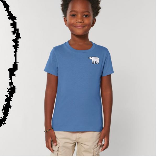 polar bear kids - unisex organic cotton t shirt Bright Blue