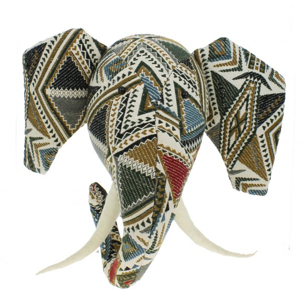 Navaho Print Elephant Head