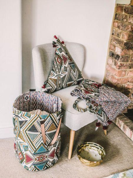 Navaho Fabric Triangle Cushion