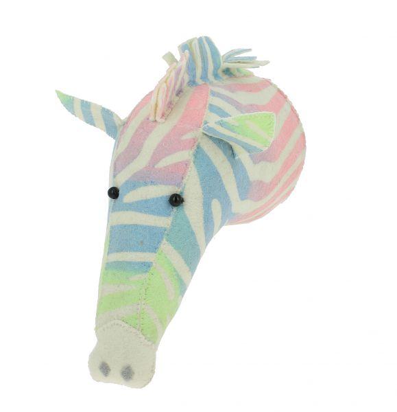 Bright Ombre Print Zebra Head