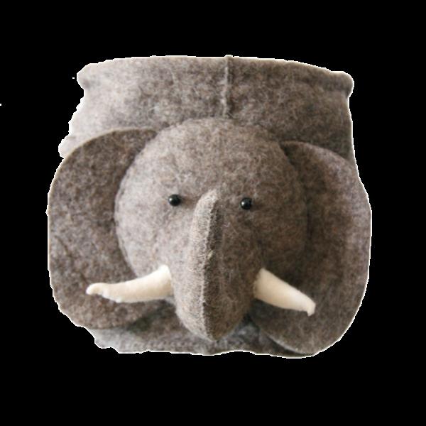 Elephant Felt Storage Bag
