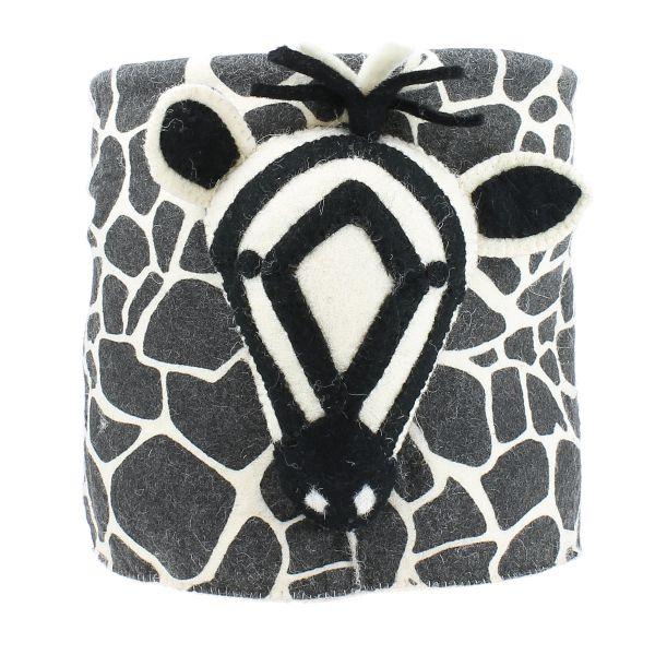 Zebra with Giraffe Print Storage Bag