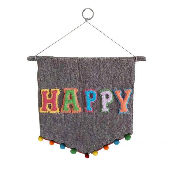 HAPPY Wall Pennant