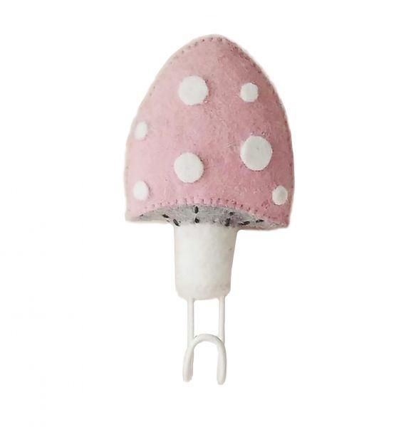 Pink Mushroom Hook
