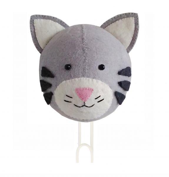 Tabby Cat Head Hook