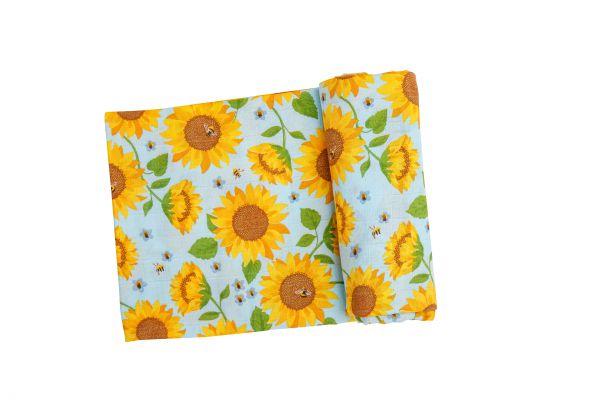 Sunflower Print Swaddle