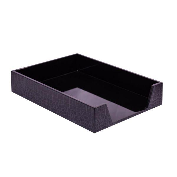 Chelsea Paper Tray Croc Noir