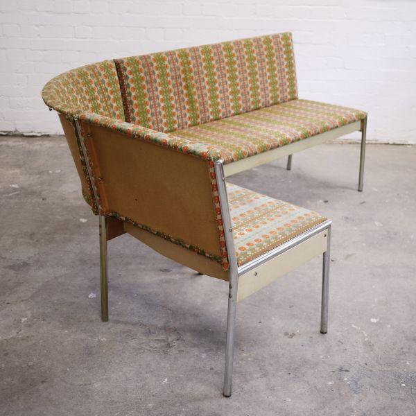 Upholstered German Sofa/Bench by EKA Wohnmobel, 1960s
