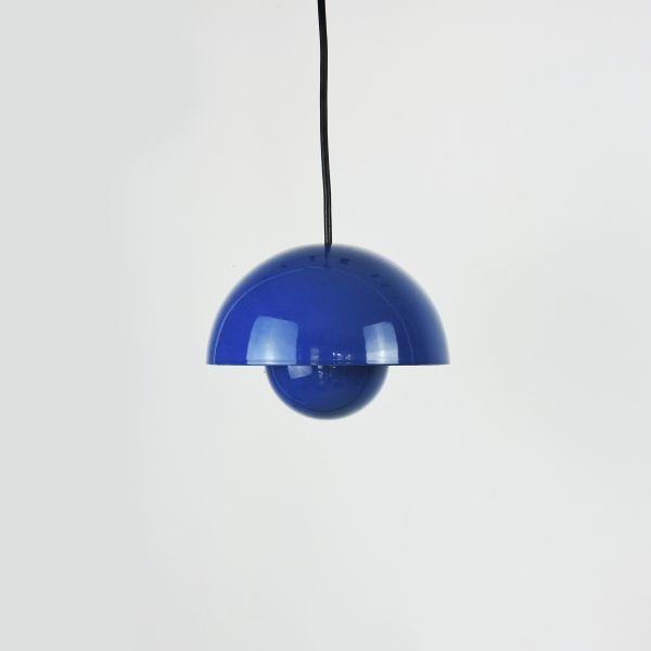 Blue Flowerpot Pendant Lamp by Verner Panton for Louis Poulsen, 1960s