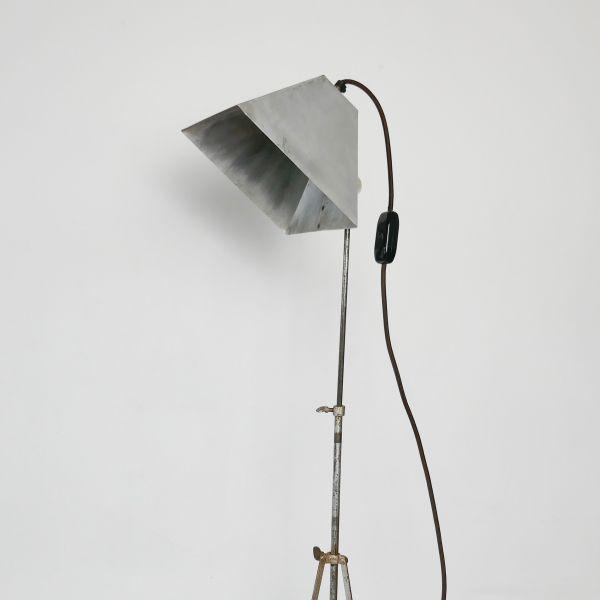 Vintage Metal Tripod Floor Lamp, 1950s