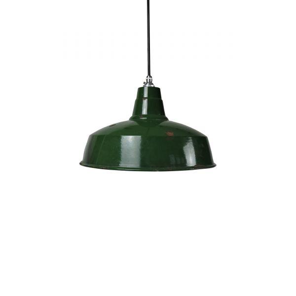 Vintage Green Enamel Pendant Lamp from Maxlume