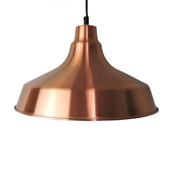 Danish Copper Pendant Light, 1970s