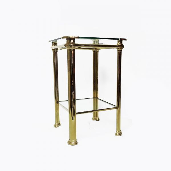 Italian Brass Table by Mara, 1970s