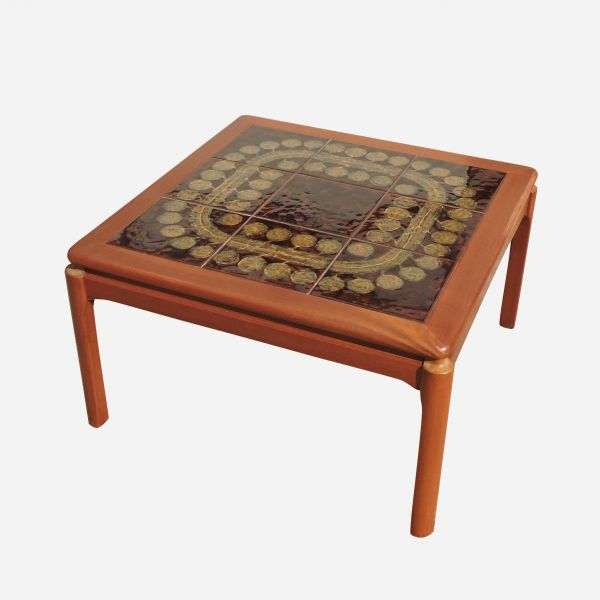 Mid-Century Square Tile Topped Coffee Table, 1960s
