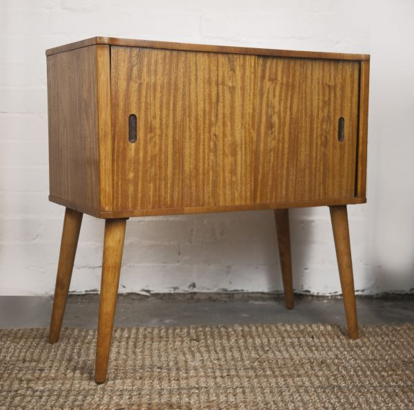 Mid-Century Afromosia Record Cabinet, 1960s