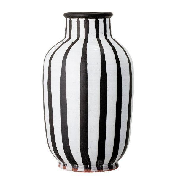 Schila Terracotta Vase   Black & White