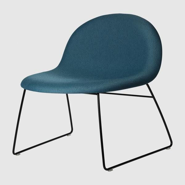 3D Lounge Chair - Fully Upholstered - Sledge base