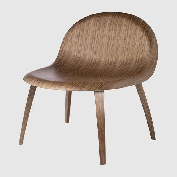 3D Lounge Chair - Un-upholstered - Wood base