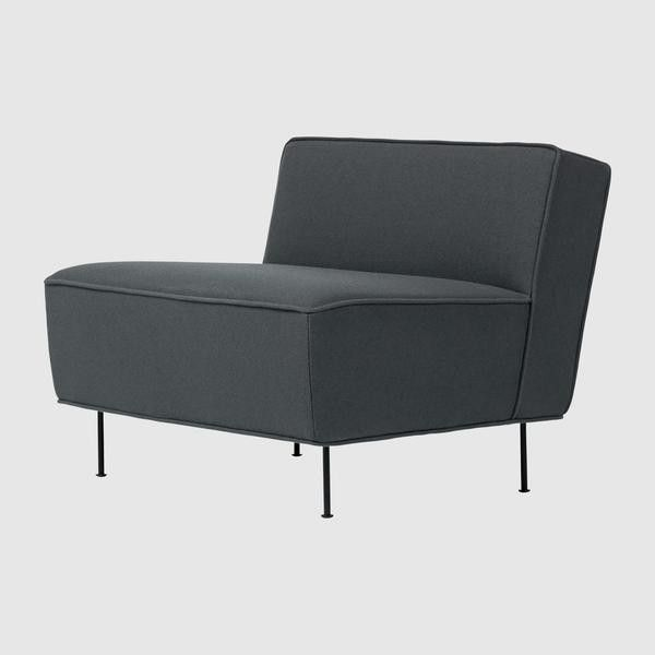 Modern Line Lounge Chair - (H 70 x W 80 x D 83 cm)
