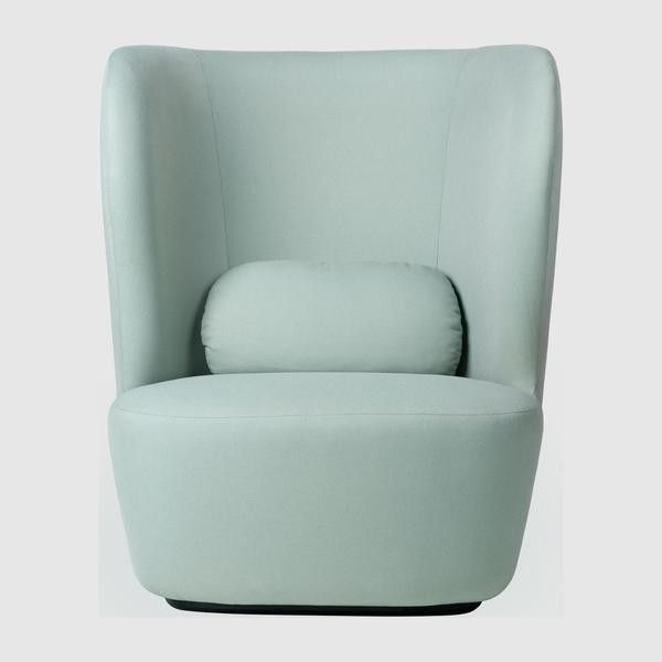 Stay Lounge Chair - Fully Upholstered, Black base, High back