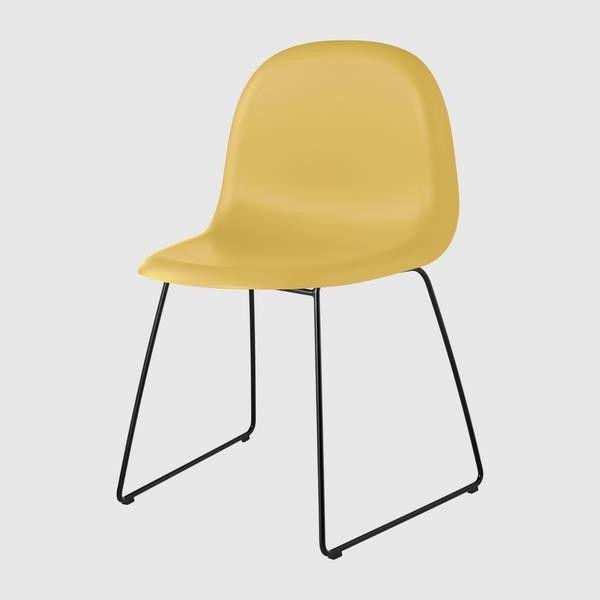 3D Dining Chair - Sledge base