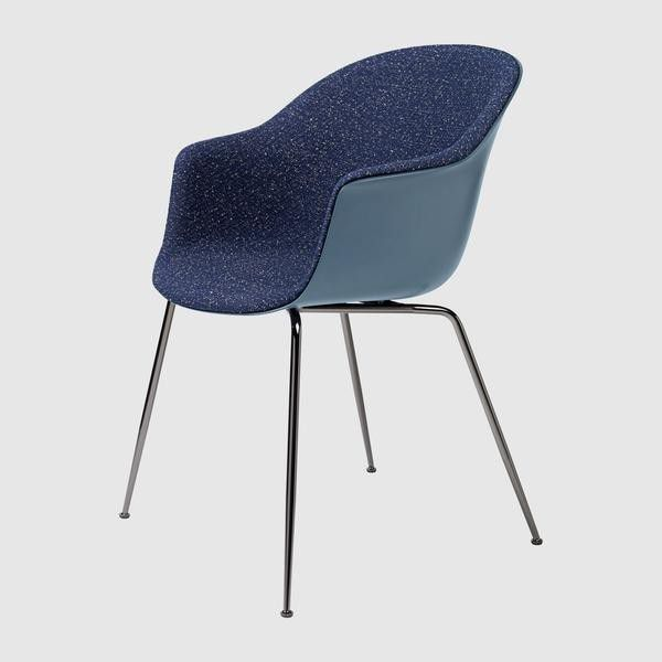 Bat Dining Chair - Front Upholstered, Conic base