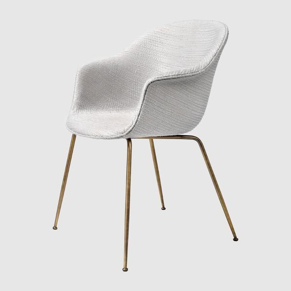 Bat Dining Chair - Upholstered, Metal base
