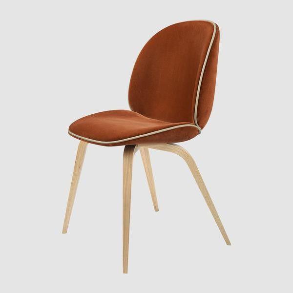 Beetle Chair - Upholstered, Wood base
