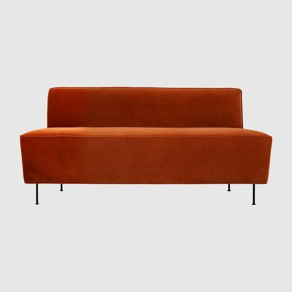 Modern Line Sofa - Dining Height - (H 74 x W 165 x D 71 cm)