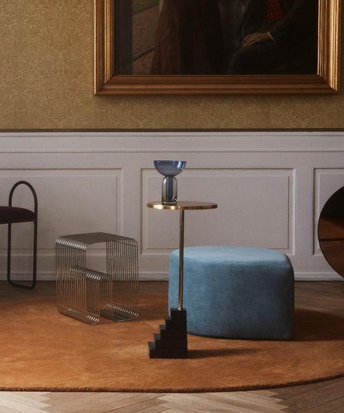 CURVA stool - Silver