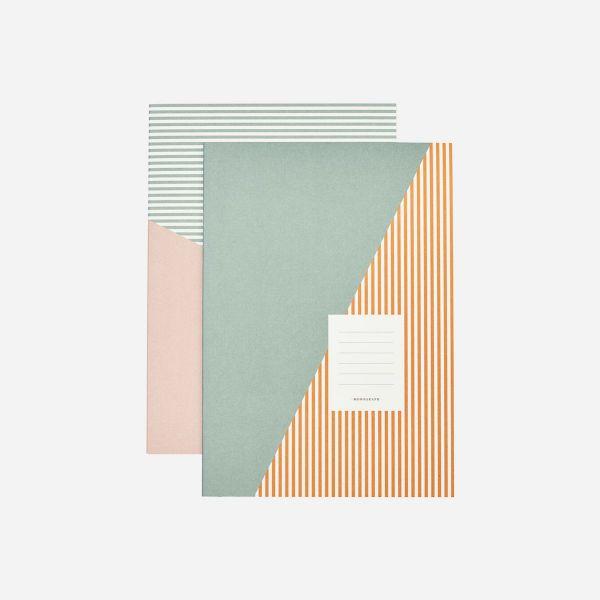 A4 Notebooks | Stripes Set Of 2