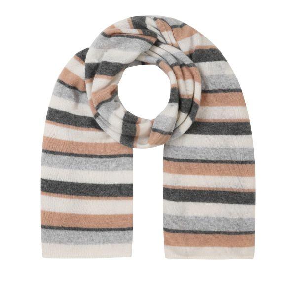 Cashmere Lofty Blanket Scarf in Striped