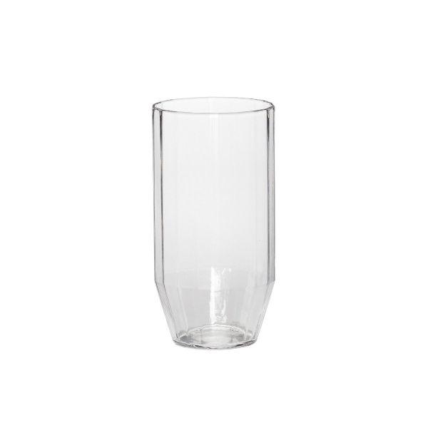 Angular Glass Tumbler   Clear