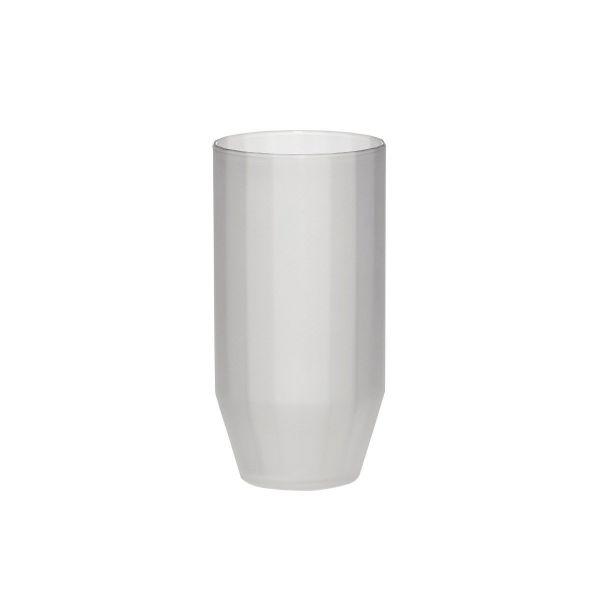 ANGULAR GLASS TUMBLER - FROSTED - BY HÜBSCH glass HUBSCH