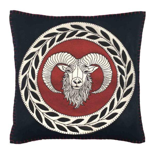 The Jan Constantine Zodiac Cushion - Aries