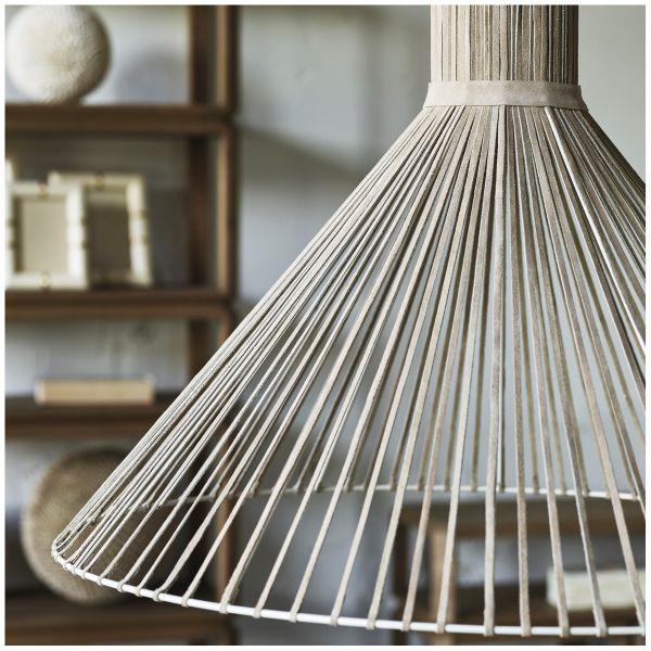 Hanging lamp MABEL beige