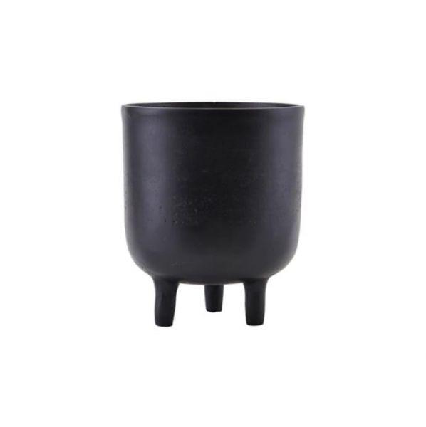 Black plant pot with legs