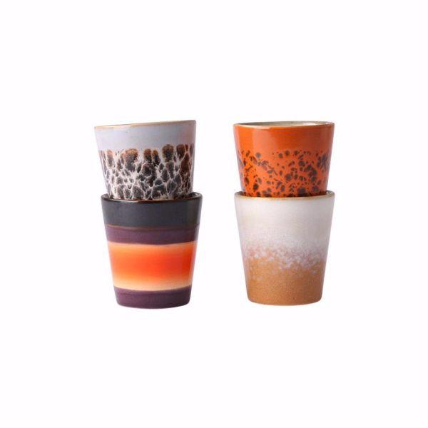 Ceramic 70's Ristretto Cups | Set Of 4