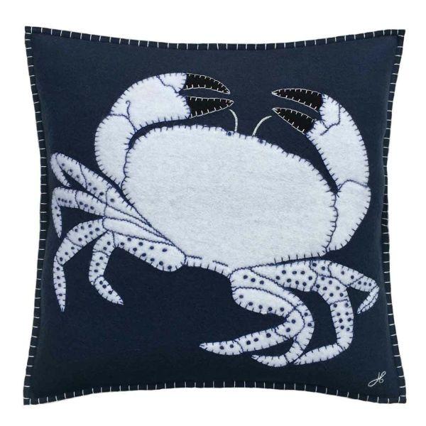 The Jan Constantine Crab Cushion (Navy)