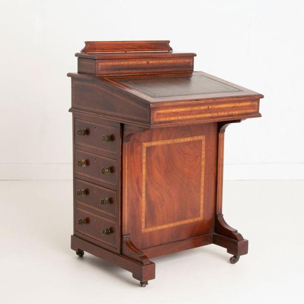 Edwardian Inlaid Mahogany Davenport Desk c.1910