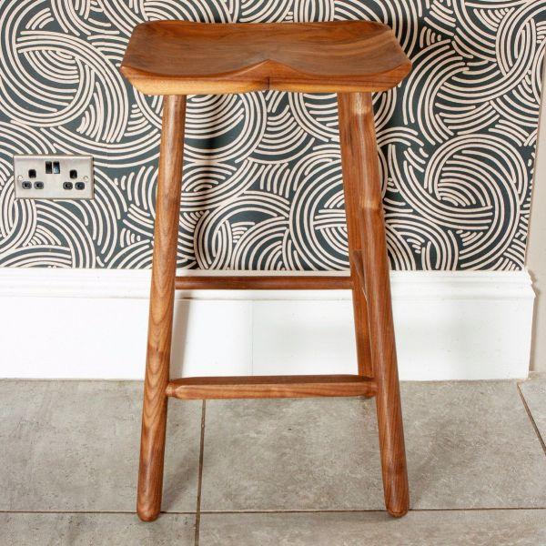 EX DISPLAY HANDCRAFTED WALNUT BAR STOOLS stools I am Nomad