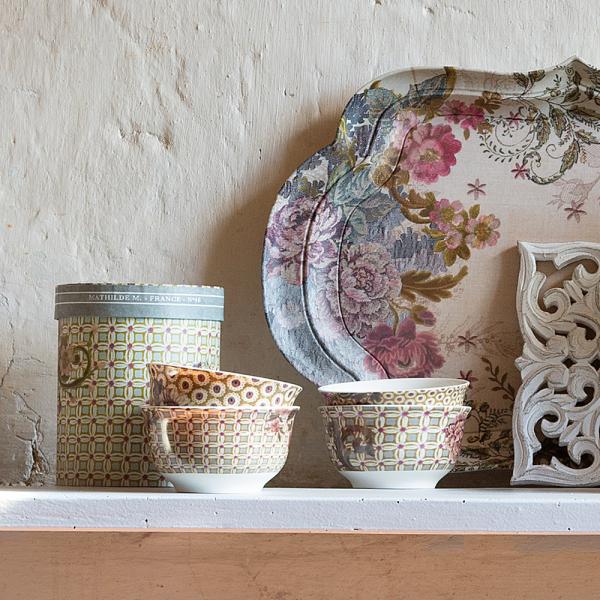 Box of 4 bowls Madame de Montespan