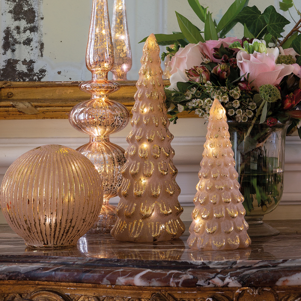 Christmas tree luminous pink & golden